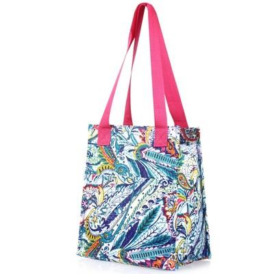 Zodaca Fashion Women Handbag Insulated Lunch Tote Zipper Double Handles Carry Bag for Travel Grocery Shopping