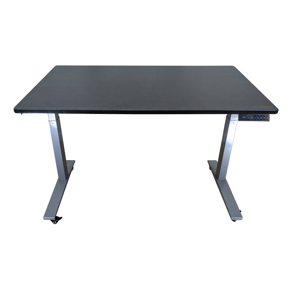 "Image of ""60""""x30"""" Adjustable Standing Desk Gray - Uncaged Ergonomics"""