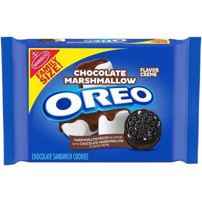 Oreo Chocolate Marshmallow Flavor Creme Chocolate Sandwich Cookies Family Size - 17oz