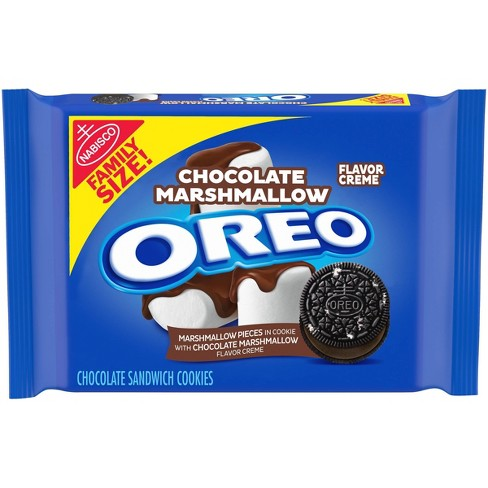 Oreo Chocolate Marshmallow Flavor Creme Chocolate Sandwich Cookies Family Size - 17oz - image 1 of 4