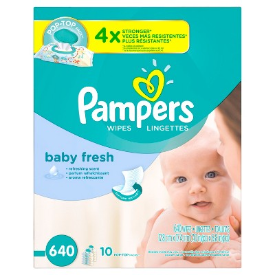 Pampers Baby Fresh Wipes - 640 ct