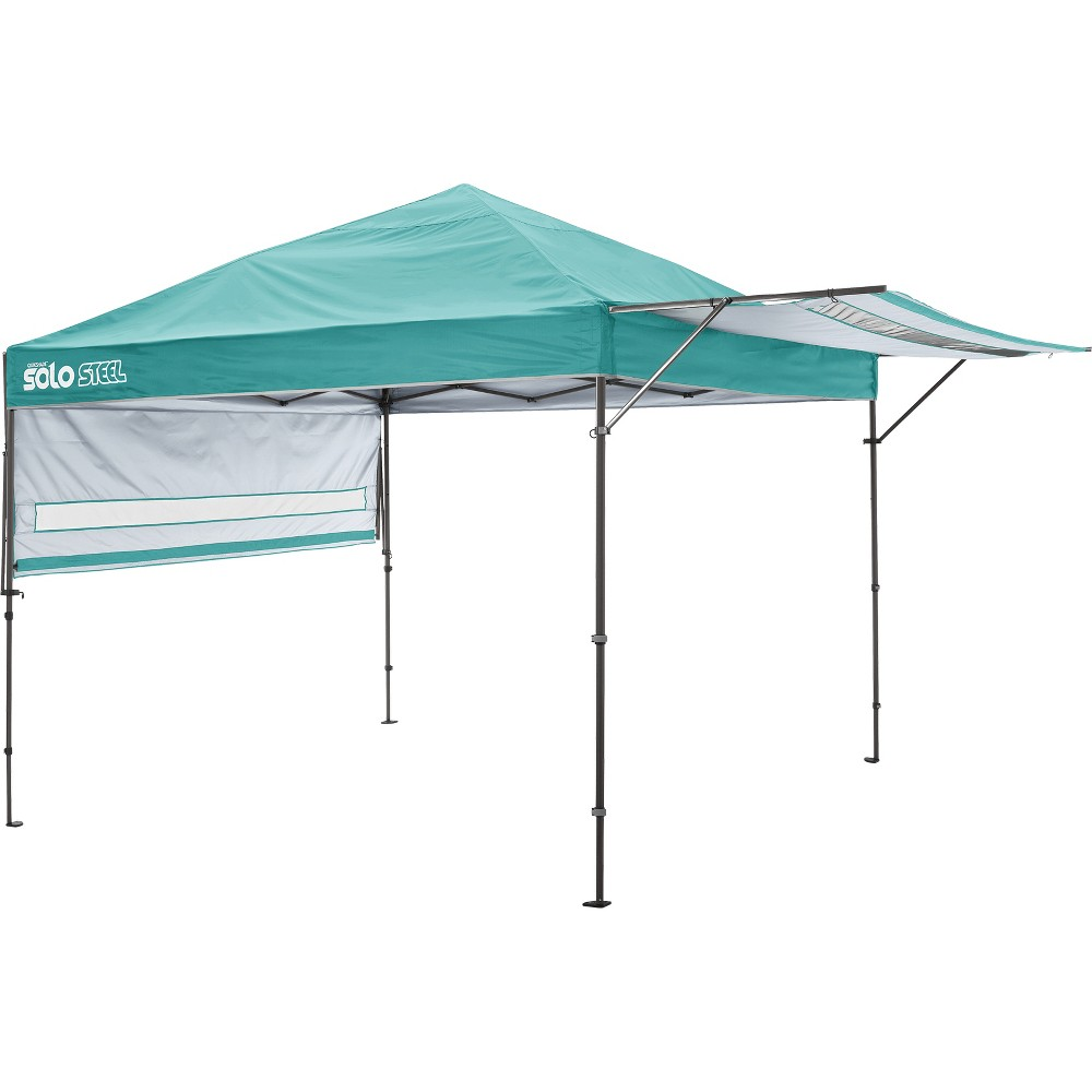 Quik Shade Solo Steel 170 10 x 17' Straight Leg Canopy - Turquoise