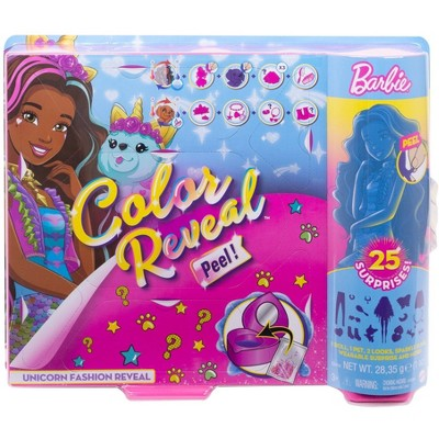 Barbie Color Reveal Peel Unicorn Fashion Reveal Doll