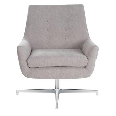 Jayla Linen Swivel Accent Chair - Safavieh