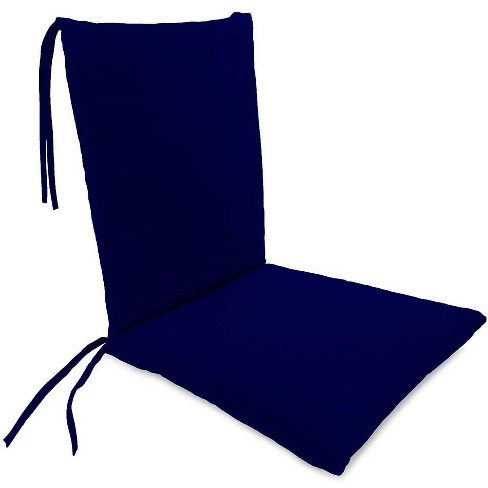 Weather Resistant Outdoor Rocker Chair Cushion With Ties Midnight