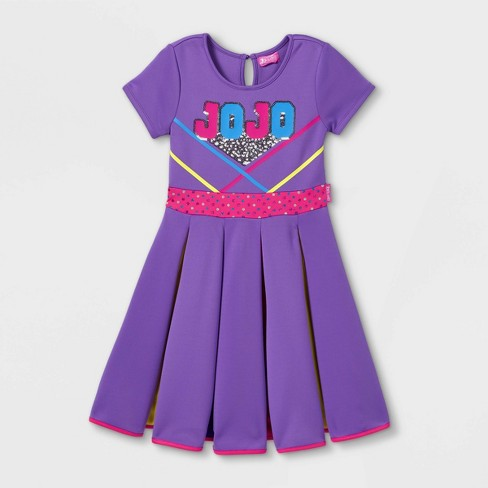 Girls' JoJo Siwa Rainbow Skater Dress - Purple - image 1 of 2