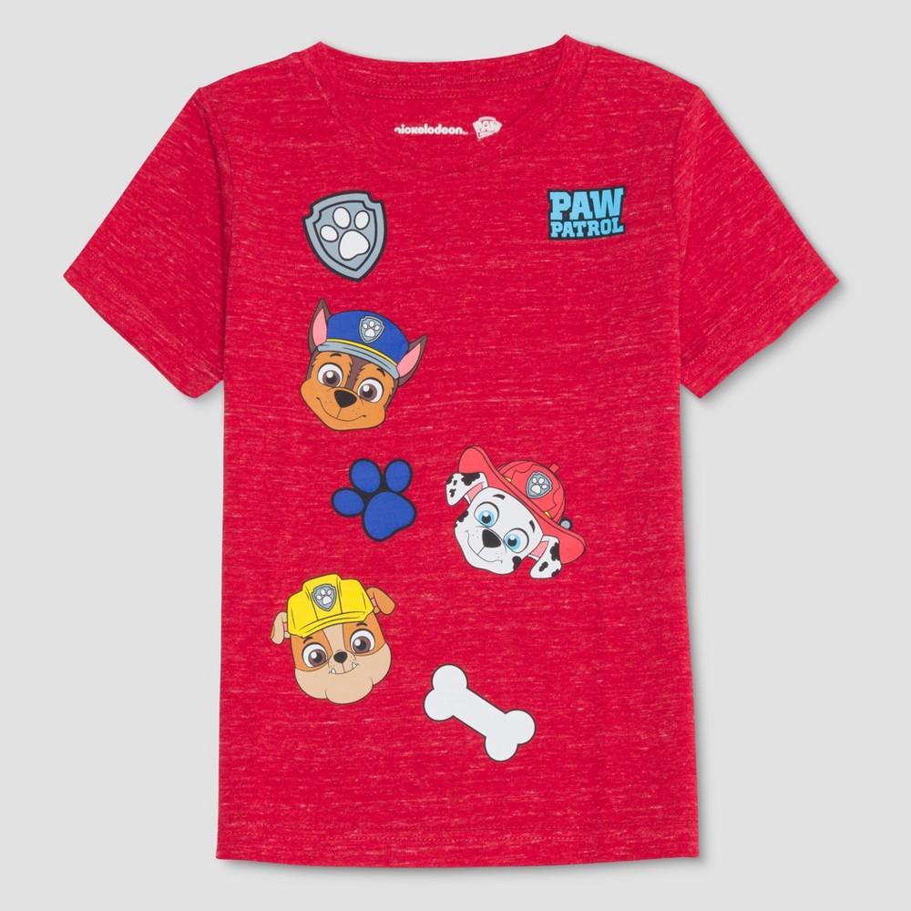 Toddler Boys' Paw Patrol Short Sleeve T-Shirt - Red 5T