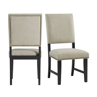 Mara Upholstered Side Chair Set Taupe - Picket House Furnishings