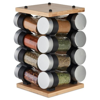Cole & Mason Blyth 16 Jar Bamboo Spice Rack