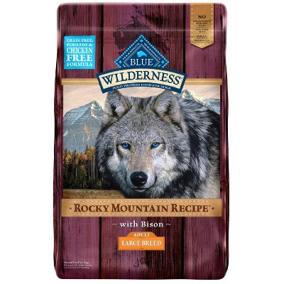 Blue Buffalo Wilderness Grain Free Rocky Mountains Recipe with Bison Large Breed Dry Dog Food - 22lbs