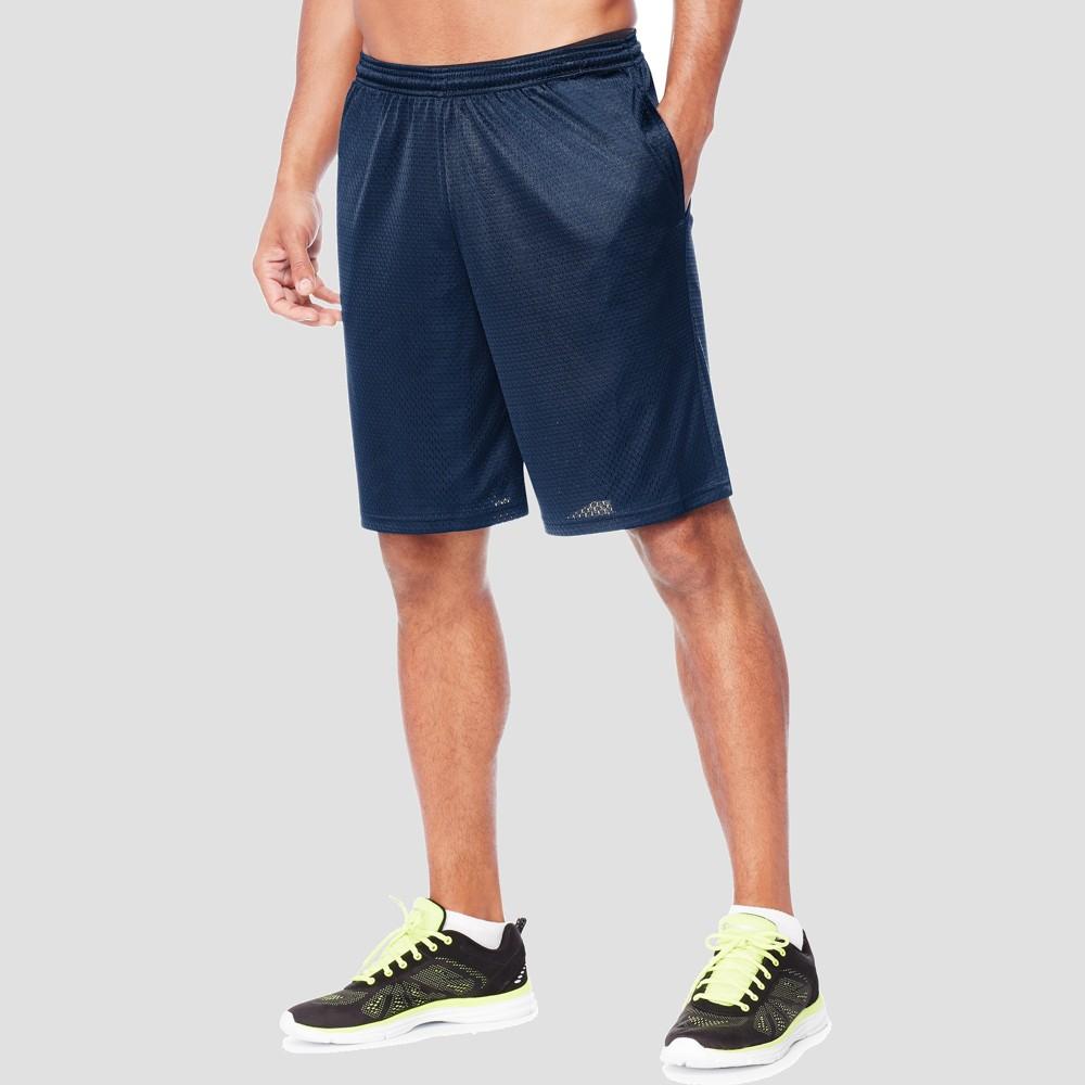 Hanes Sport Mens 9 Long Mesh Shorts - Dark Blue S Cheap