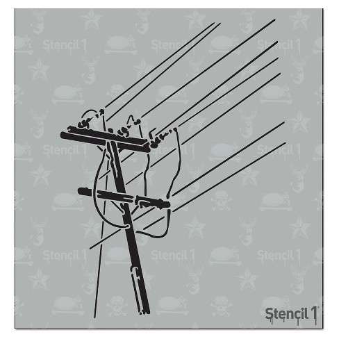 "Stencil1® Power Lines - Stencil 5.75"" x 6"" - image 1 of 2"