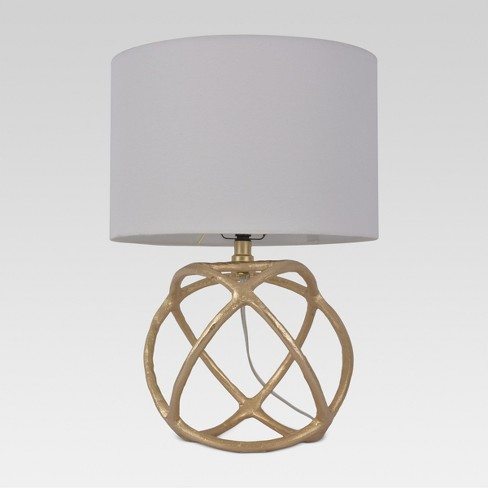 Cast Orb Figural Accent Lamp Gold - Threshold™ - image 1 of 3