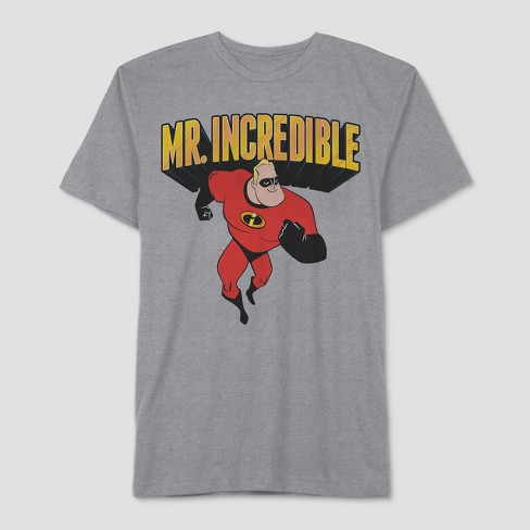 Men's The Incredibles Father's Day Incredible Dad Short Sleeve T-Shirt - Cloudy Grey - image 1 of 1
