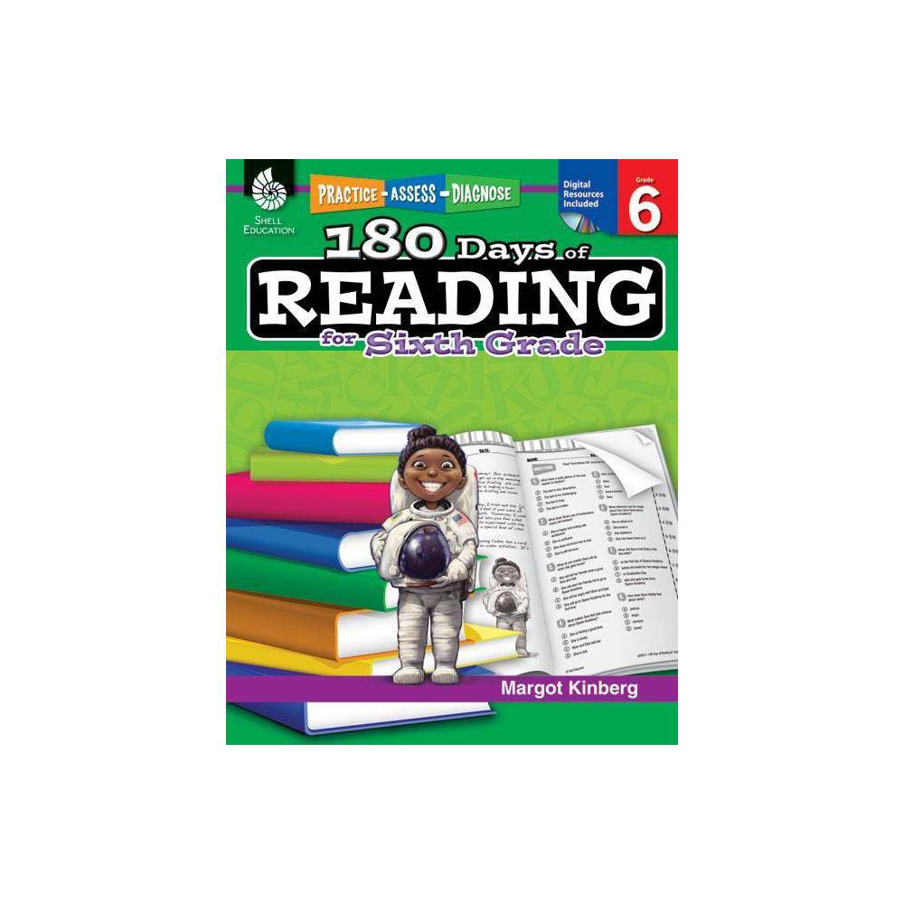 180 Days Of Reading For Sixth Grade 180 Days Of Practice By Margot Kinberg Paperback