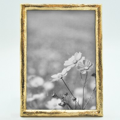 5 X7  Metal Frame Thin Border Prescott Gold - Threshold™