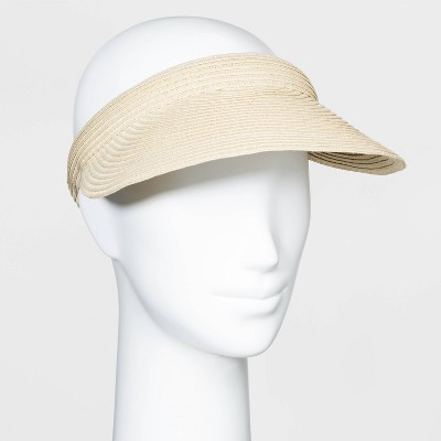 Women's Straw Visor Hats -  A New Day™ Natural One Size