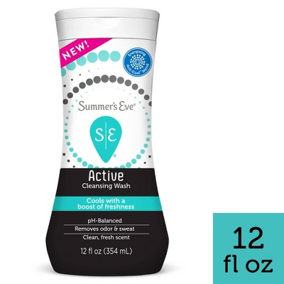 Summer's Eve Active Feminine Cleansing Wash, Cooling & Refreshing - 12 fl oz