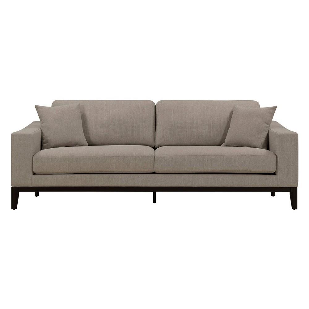 Olivia Lawson Square Arm Sofa French Linen Adore Decor