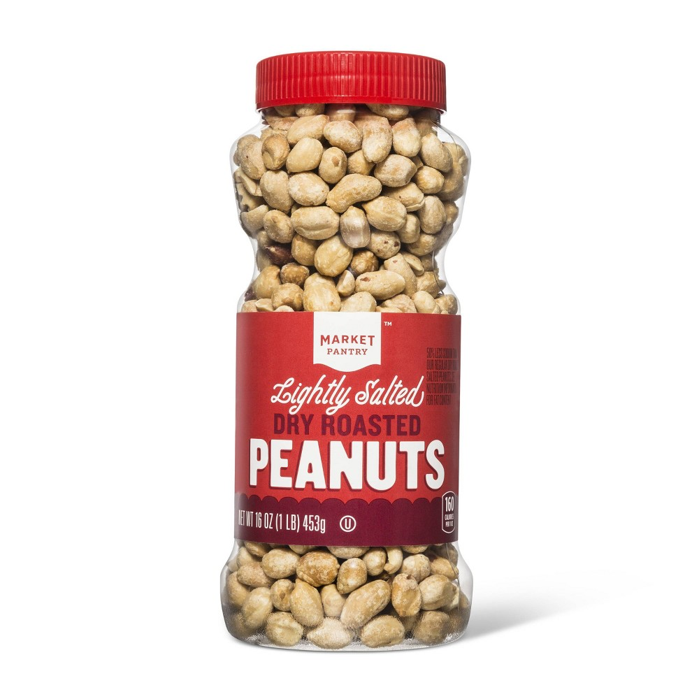 Dry Roasted Lightly Salted Peanuts - 16oz - Market Pantry