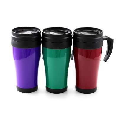 Gibson Everyday Freeway Exit 3 Piece 12 Ounce Assorted Travel Mugs