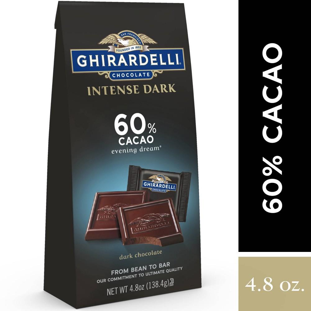 Ghirardelli Dark 60 Cacao Chocolate Squares 4 8oz