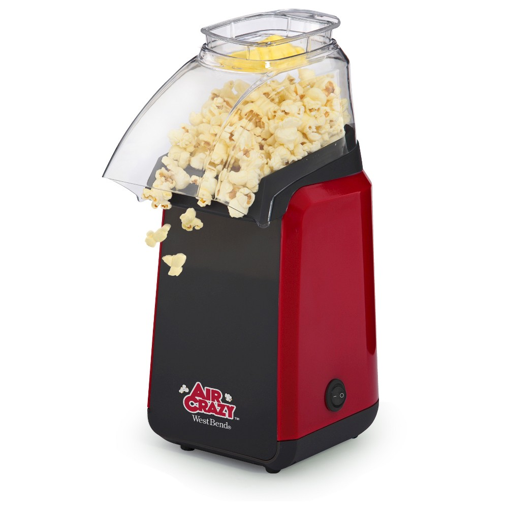 West Bend Air Crazy Popcorn Maker Machine, Red 15110678
