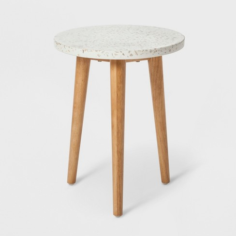 """18.1"""" x 14.1"""" Terrazzo Accent Table White/Brown - Project 62™ - image 1 of 2"""
