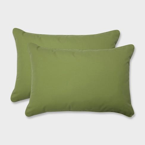 2pk Oversize Colefax Pesto Rectangular Throw Pillows Green - Pillow Perfect - image 1 of 2