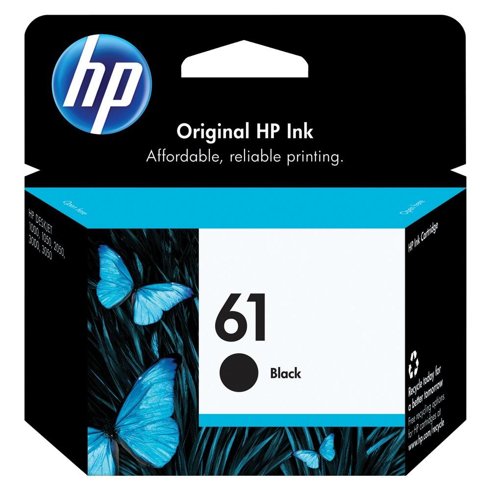 HP 61 Single Ink Cartridge - Black (CH561WN), Black (61 Single)