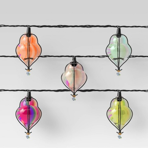 10ct Incandescent Mini Teardrop Outdoor String Lights Multi-Colored - Opalhouse™ - image 1 of 3