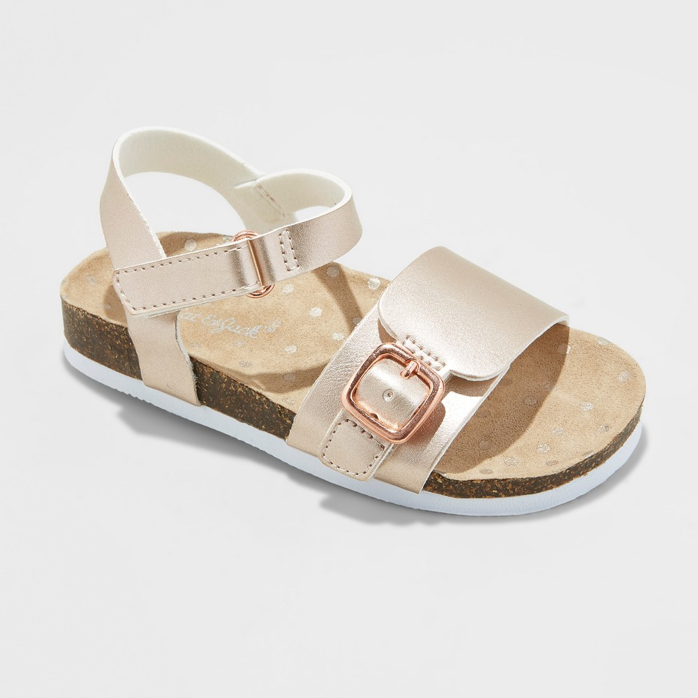 Toddler Girls' Berdie Footbed Sandals - Cat & Jack Rose Gold 9