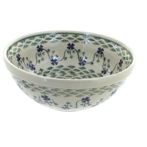 Blue Rose Polish Pottery Sage Floral Cereal Soup Bowl Target