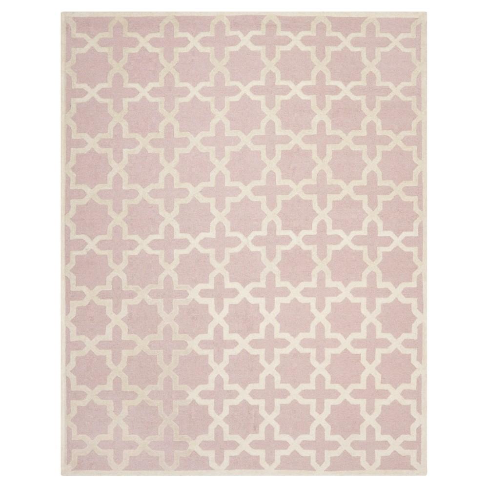 Geometric Area Rug Light Pink/Ivory