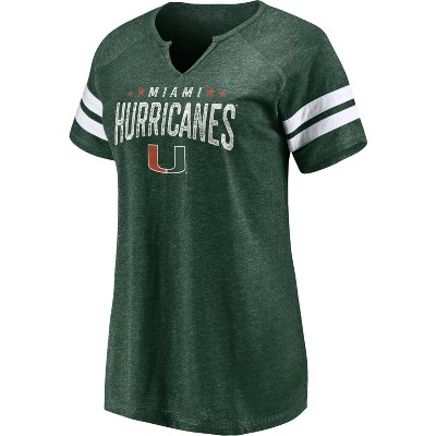 NCAA Miami Hurricanes Women's Split Neck T-Shirt