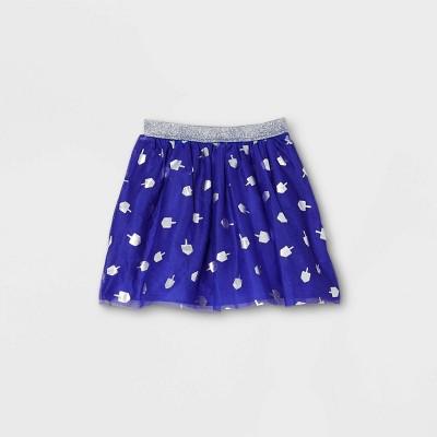 Girls' Hanukkah A-Line Skirt - Cat & Jack™ Navy