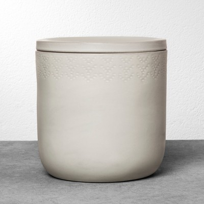 Stoneware Storage Canister Large - Cream - Hearth & Hand™ with Magnolia