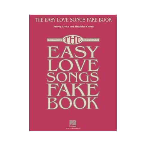 Easy Love Songs Fake Book Melody Lyrics Simplified Chords Over