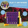 ECR4Kids Jumbo Four-To-Score Giant Game-Indoor/Outdoor 4-In-A-Row Connect - Purple and Gold - image 4 of 4