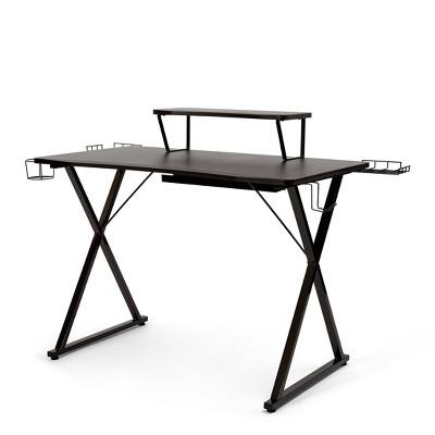 "41.7""x23.3"" Airlift Gaming E Sports Computer Desk Black - Seville Classics"