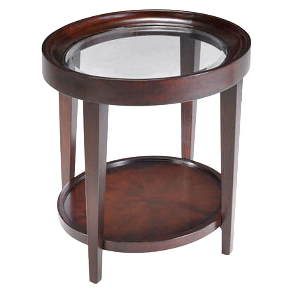 Carson Wood Oval End Table Sienna - Magnussen Home