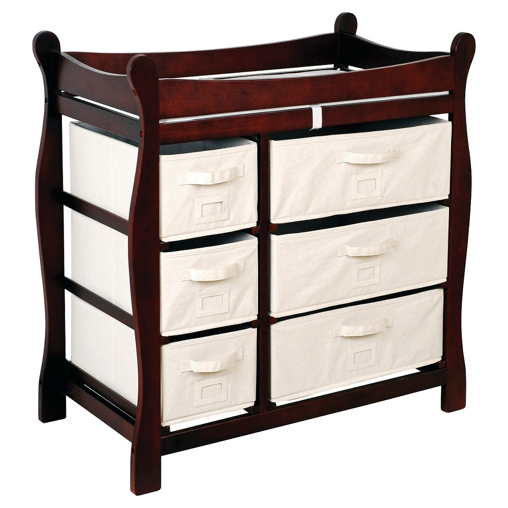 Image of Badger Basket Baby Changing Table - Cherry