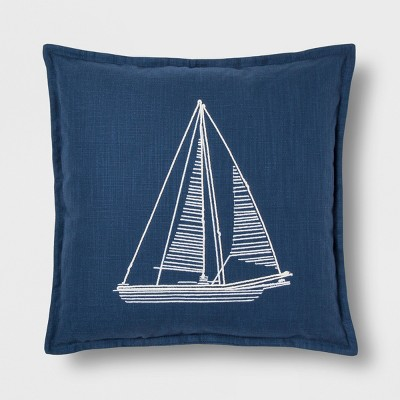 Blue Sailboat Throw Pillow - Threshold™