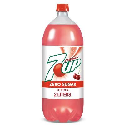 Diet 7UP Cherry Soda - 2 L Bottle