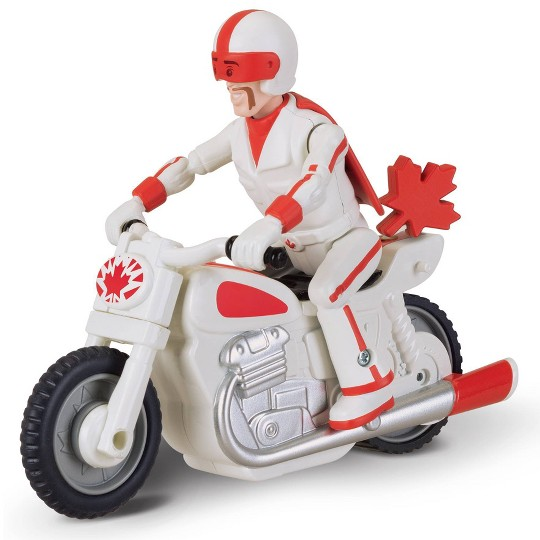 Disney Pixar Toy Story 4 Pull 'N Go Duke Caboom with Motorcycle image number null