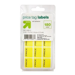 Price Tag Labels 180ct Yellow - Up&Up™