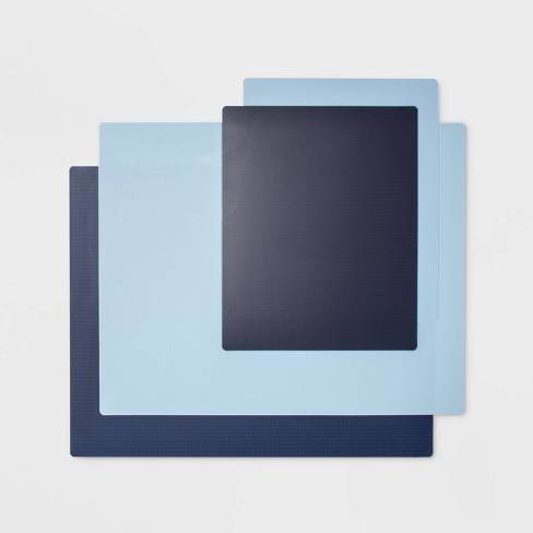 4pc Chopping Mat Set Blue - Made By Design™ - image 1 of 2