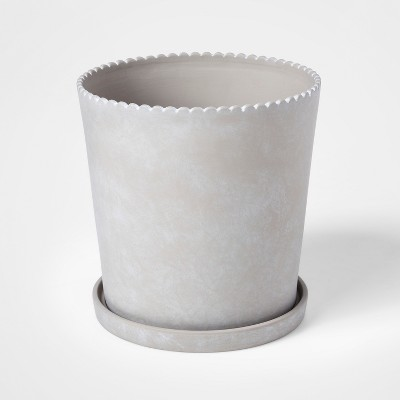 11.4  x 10.8  Terra Cotta Planter Gray - Smith & Hawken™