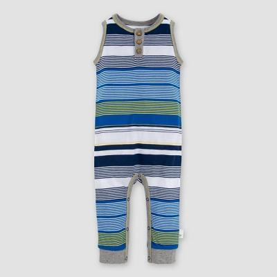 Burt's Bees Baby® Baby Boys' Striped Sleeveless Jumpsuit - 6-9M