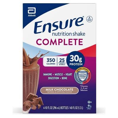 Ensure Complete Nutrition Drink - Milk Chocolate - 4pk/10oz